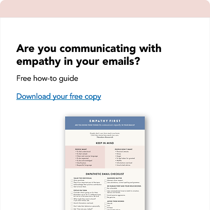 Write emails with empathy one pager