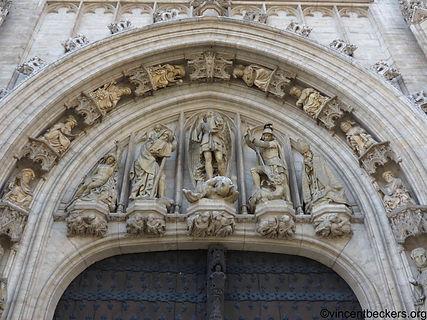 visite guidée Grand-Place Bruxelles, Vincent Beckers, portail hotel de ville, guide touristique