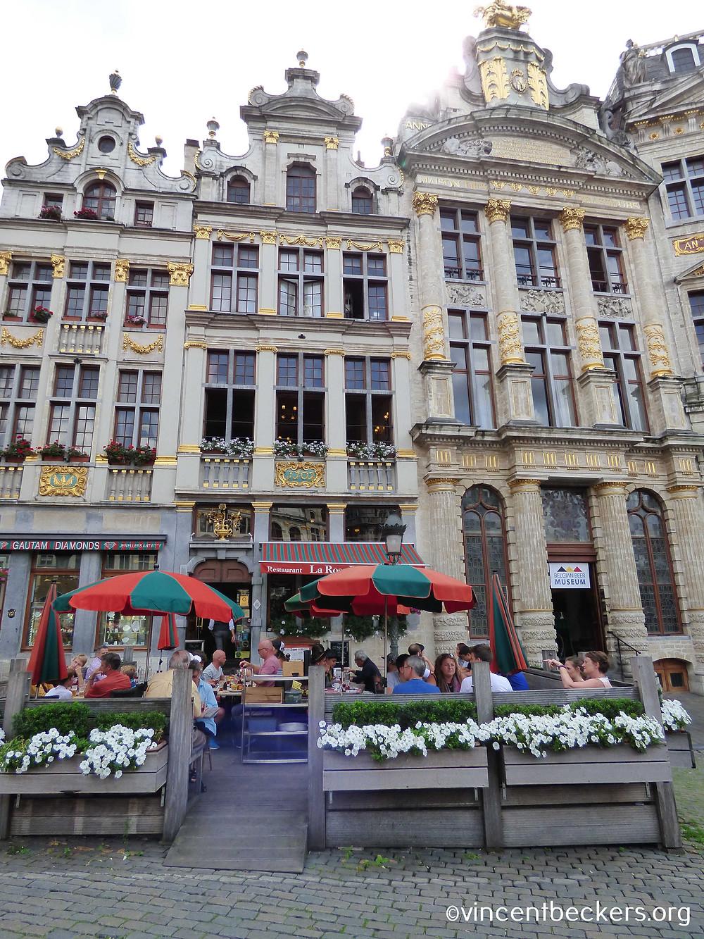 façade de la maison de la Rose, Grand-Place, Bruxelles, style baroque, Vincent Beckers, visite guidée Grand-Place Bruxelles