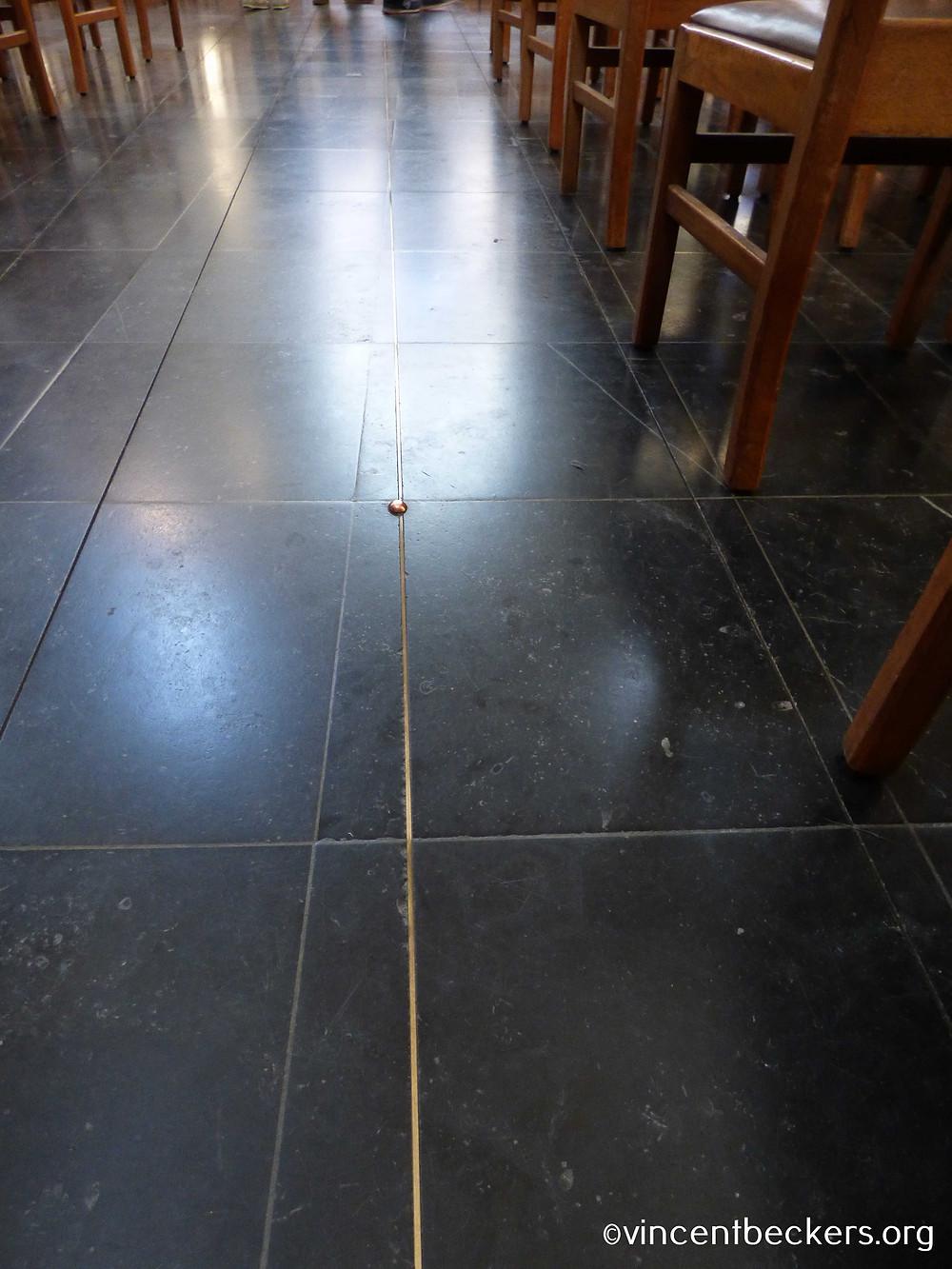 méridien de Bruxelles, cathédrale Saint-Michel, Bruxelles, visite Bruxelles avec Vincent Beckers