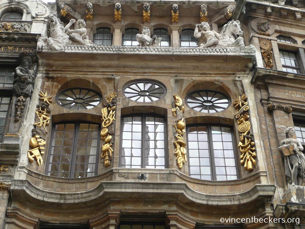 façade du Cornet de al Grand-Place de Bruxelles, visite guidée Grand-Place Bruxelles, Vincent Beckers
