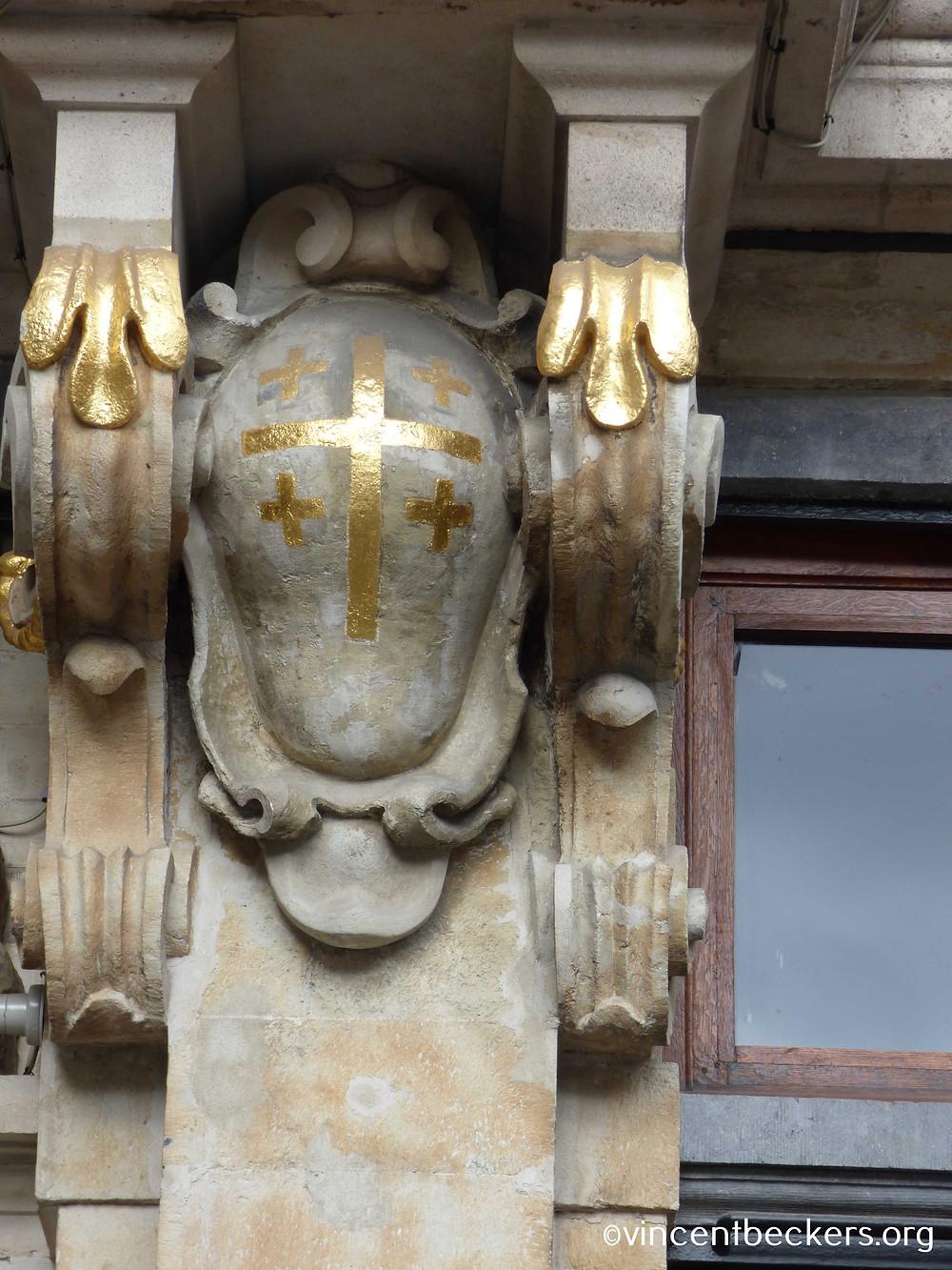 croix de Jérusalem, Grand-Place de Bruxelles, maison de la Louve, visite guidée Grand-Place Bruxelles, Vincent Beckers