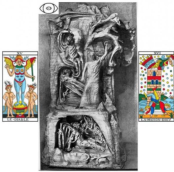 diable carte tarot steiner symbolisme vincent beckers