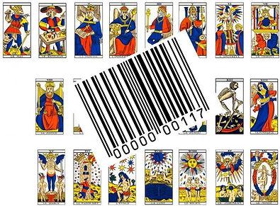 symbolique code barre carte tarot vincent beckers