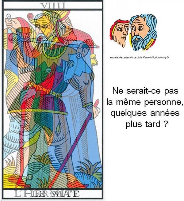 carte tarot mat hermite maitre apprenti vincent beckers
