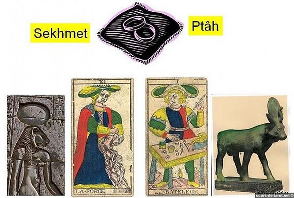 sekhmet ptah tarot symbolique vincent beckers