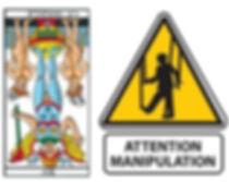 vincent-beckers, carte tarot diable, manipulation