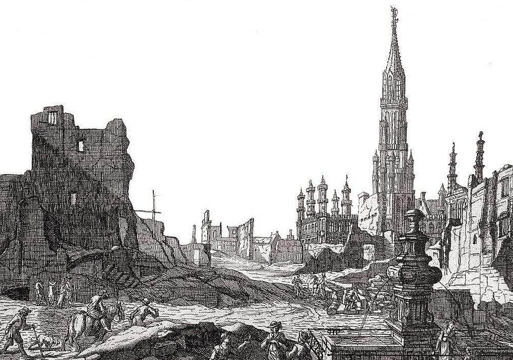 bombardement Bruxelles 1695, visite guidée Bruxelles, Vincent Beckers
