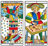 vincent-beckers, maison dieu renverse, carte tarot, faillite