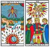vincent-beckers, lune renverse, carte tarot, amoureux