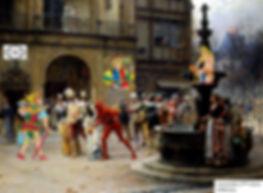 mascarade, carnaval, carte tarot, marseille, vincent beckers