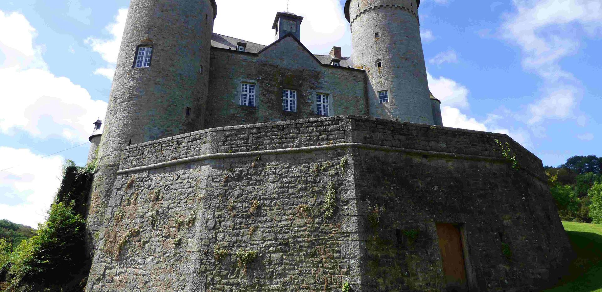 carte postale au château de Vêves
