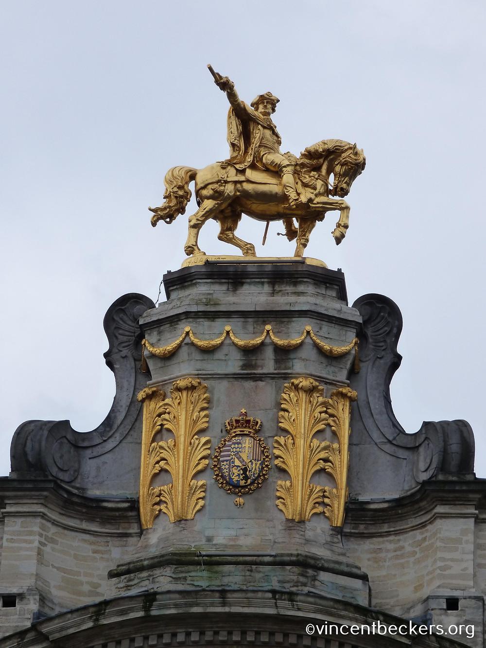 statue équestre Charles-Alexandre de Lorraine, maison des Brasseurs, Bruxelles, Vincent Beckers, visite guidée