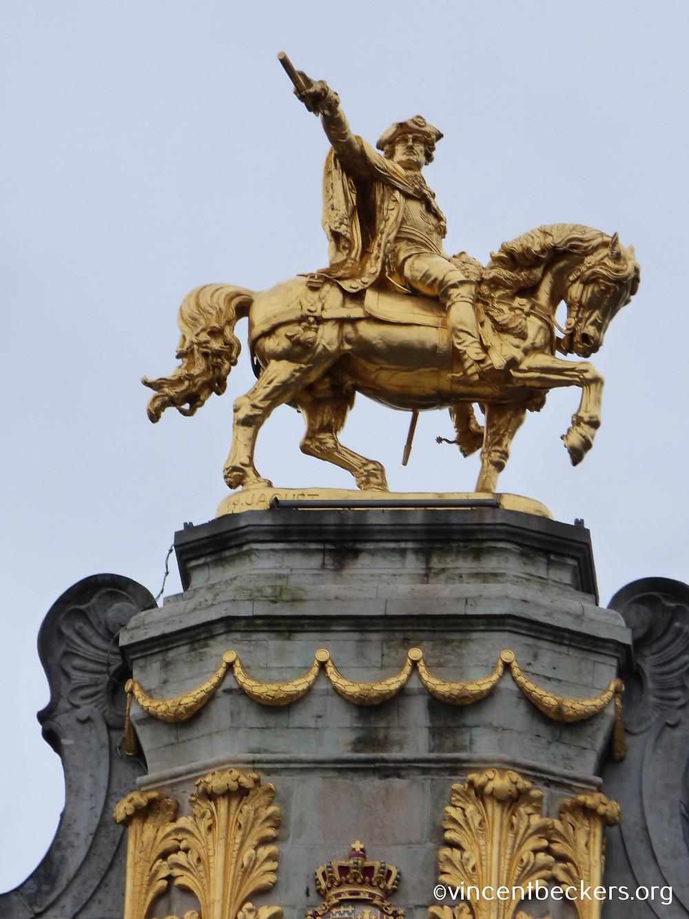 statue équestre Charles de Lorraine, maison des brasseurs, grand-place bruxelles, vincent beckers, visite guidée