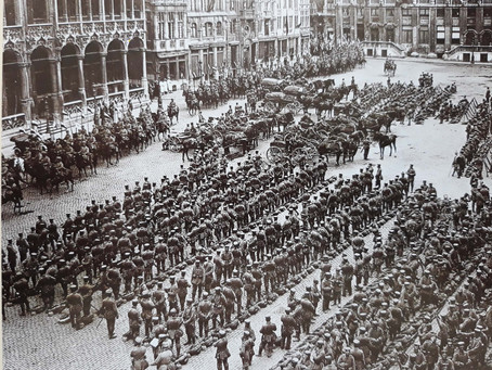 Grand-Place et les troupes allemandes