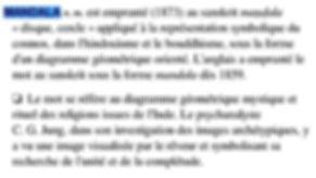 definition mandala source : dicitonnaire historique langue française