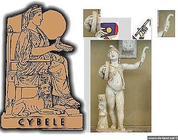 cybèle, carte bateleur, tarot, symbolique