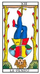 carte pendu tarot marseille vincent beckers