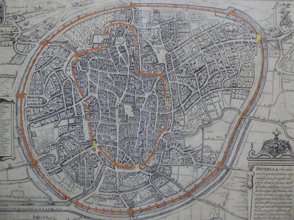 visite guidée Bruxelles, Bruxelles historique, deuxième enceinte Bruxelles,visite guidée Bruxelles historique