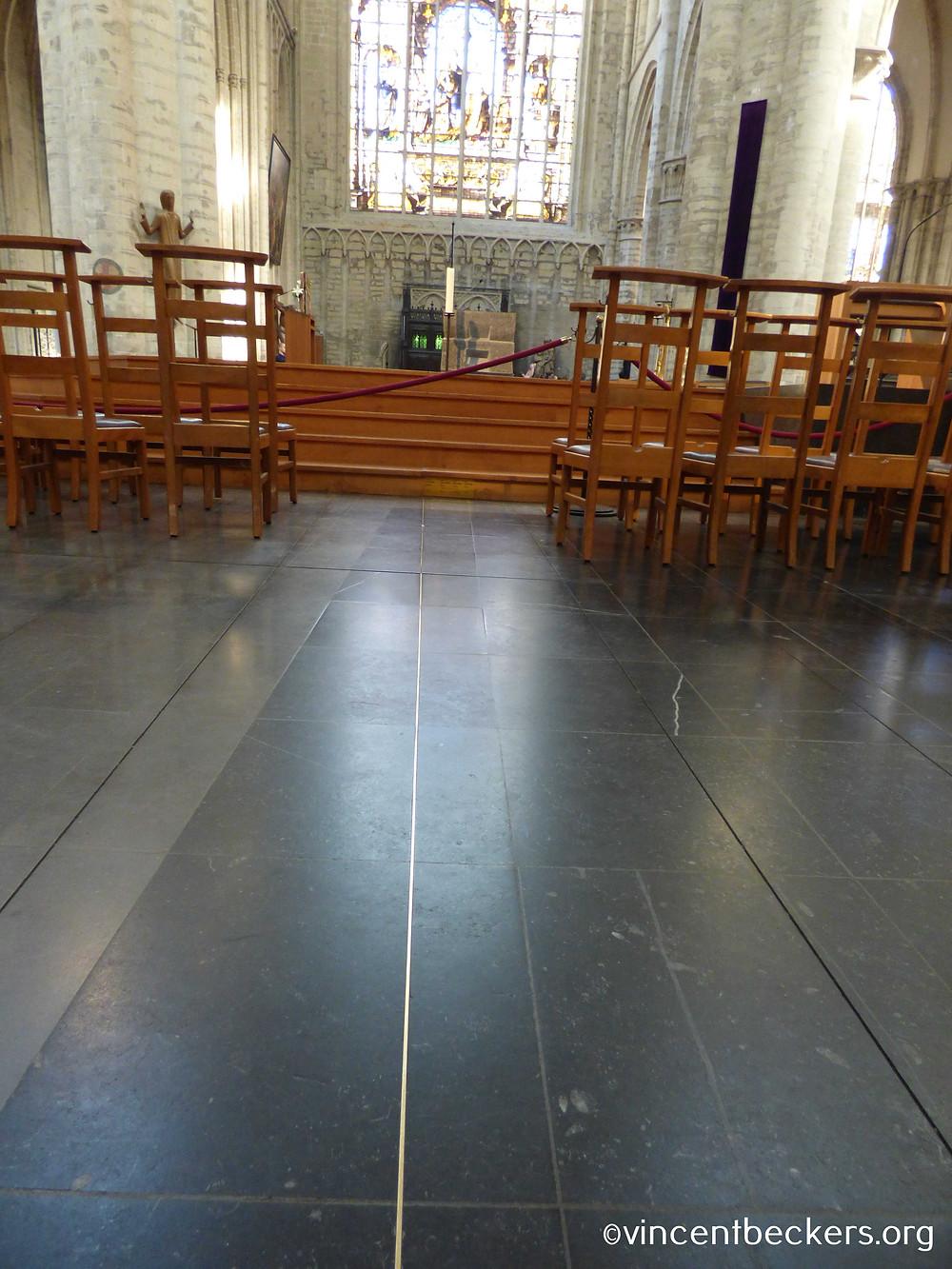 méridien de Bruxelles, cathédrale Saint-Michel, Bruxelles, visite guidée Bruxelles, Vincent Beckers