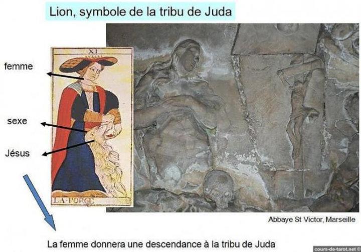 jesus marie madeleine carte tarot symbolique vincnet beckers