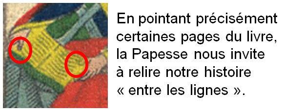 carte papesse tarot psychogénéalogique vincent beckers