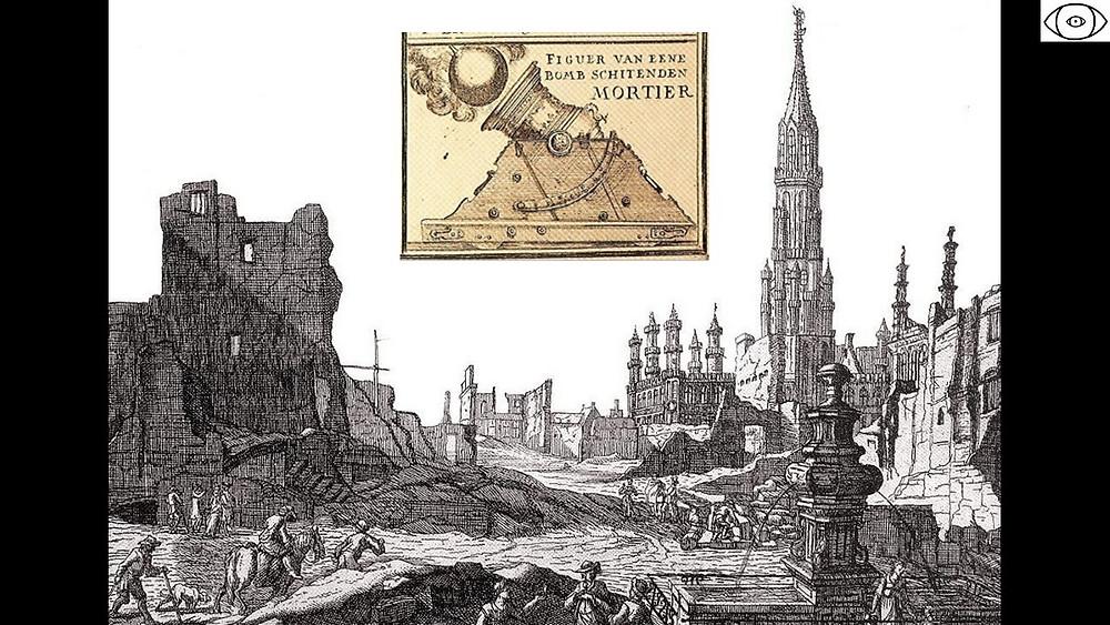 bombardement ville Bruxelles, 1695, Grand-Place incendie, visite guidée Bruxelles, Vincent Beckers