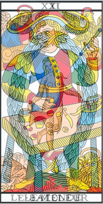 superposition cartes tarot monde bateleur  vincent beckers