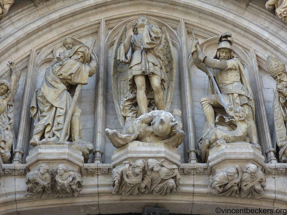 saint Michel hôtel de ville Grand-Place Bruxelles; visite guidée Grand-Place Bruxelles, Vincent Beckers