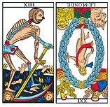 vincent-beckers, monde renverse, carte tarot, peur