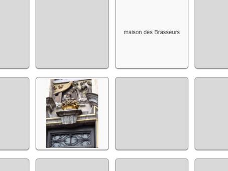 Memory des maisons de la Grand-Place de Bruxelles.
