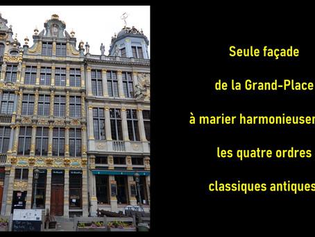 Voici la seule façade de la Grand-Place qui ...