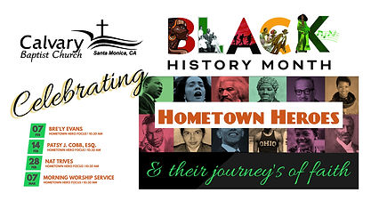 Black History Month Cultural Event Sched