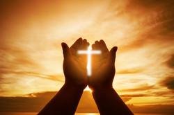Christian Human hands open palm up worsh