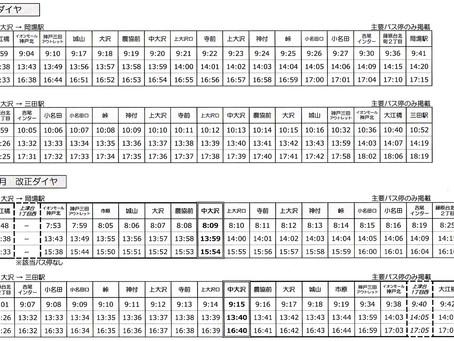 神姫バス ダイヤ改正 平成30年4月