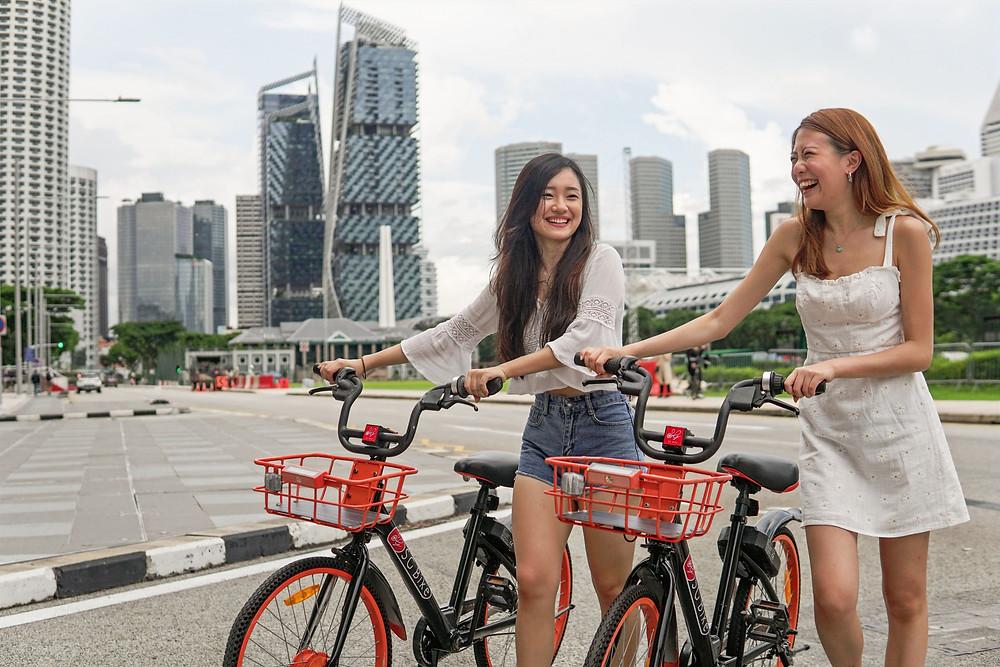SG Bike users decreasing their stress levels through cycling