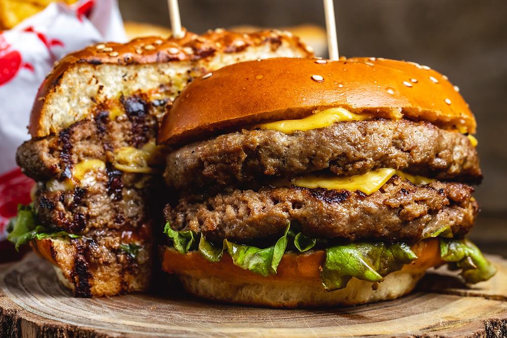 An Incredibly Tasty Hamburger.