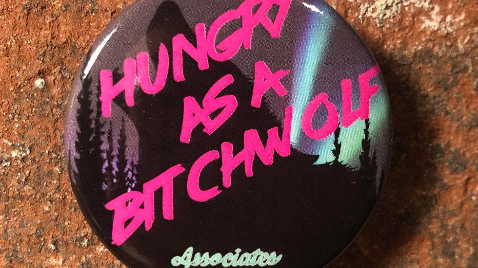 Bitch Wolf Button