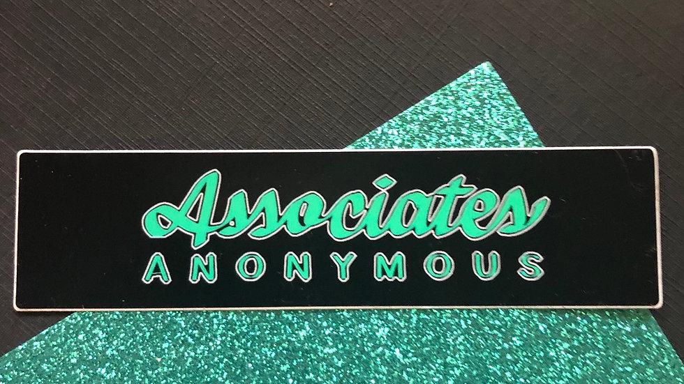 Associates Anonymous text sticker