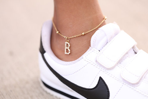 Little Initial Anklet