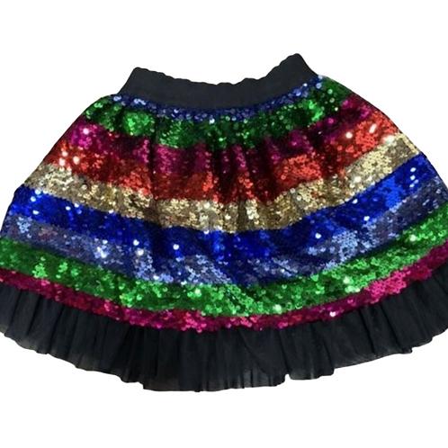 Multi Sequin Skirt