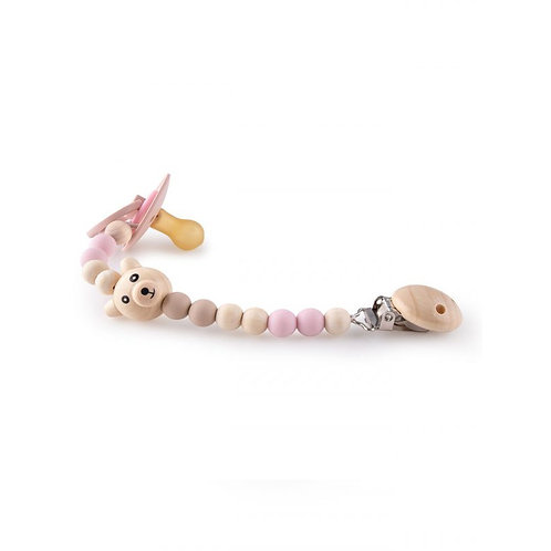 Pacifier Chains - Pink Bear