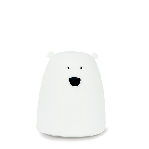 Small Bear Soft Silicone Nightlight - White
