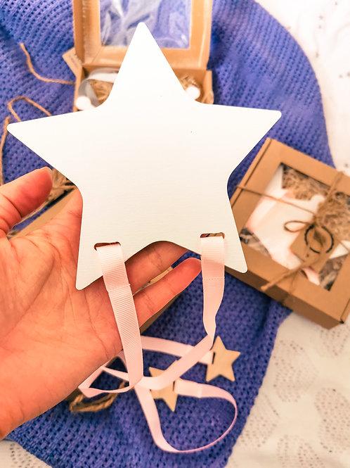 Star - Hair clips organizer (white)