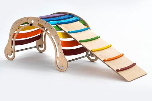 Foldable XXL  Rocker in Rainbow Color+Slide/Ramp