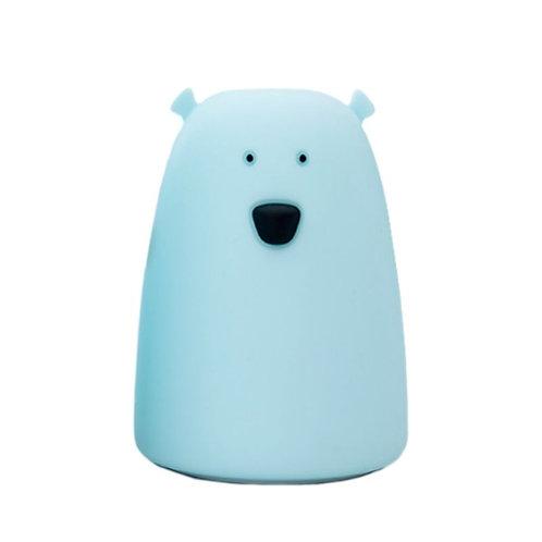 Bear Soft Silicon Nightlight - Blue