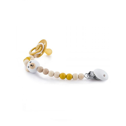 Pacifier Chains - Yellow Bear