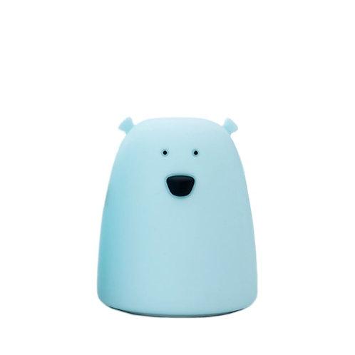 Small Bear Soft Silicone Nightlight -Blue