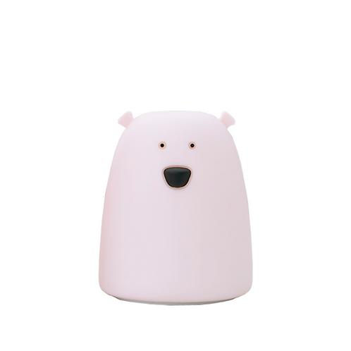 Small Bear Soft Silicone Nightlight - Pink