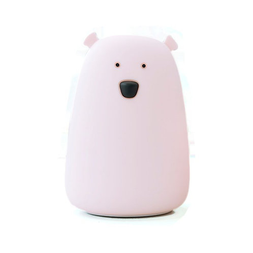 Bear Soft Silicon Nightlight - Pink